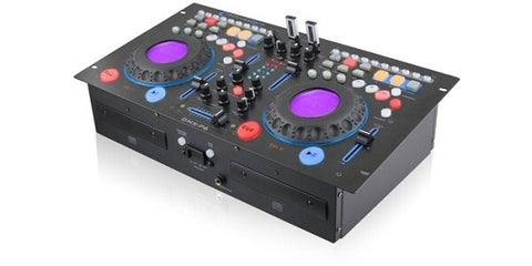 Technical Pro DMXP6 Rackmountable Double CD Mixer with USB, Scratch and BPM - Audiofeen