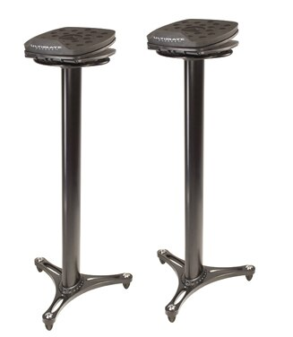 Ultimate Support MS-100B Angled Monitor Stands, 1 Pair - Audiofeen