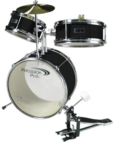 Percussion Plus 3-Piece Mini Drum Set - Black - Audiofeen