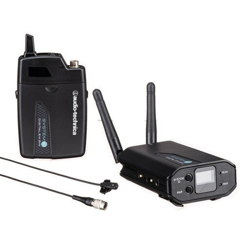 Audio-Technica ATW-1701 - System 10 Camera-mount Digital WirelessSystem includes: ATW-R1700 receiver and ATW-T1001 UniPak transmitter, 2.4 GHz - Audiofeen