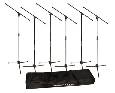 JamStands JS-MCFB6PK 6 Pack Tripod Mic Stand - Audiofeen