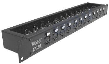 Hosa PDR-369 Patch Bay - 12-Point, XLR3F to XLR3M - Audiofeen