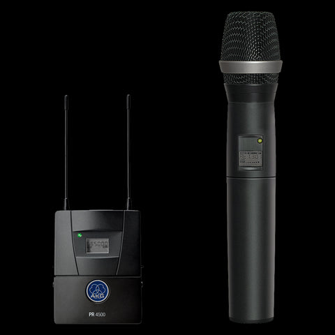 AKG 3217Z00280 - PR4500 PT Set BD7 PR4500 ENG Diversity bodypack receiver, PT4500 bodypack transmitter, CK99 L lavalier microphone. Accessories see single components. - Audiofeen