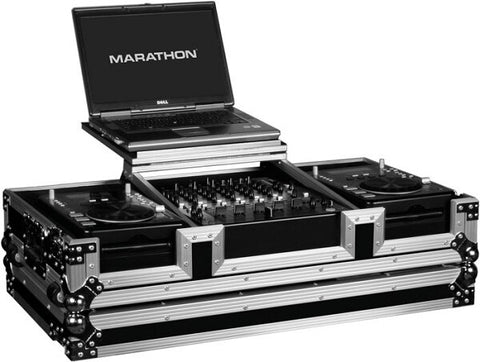 Marathon MA-CDJ12WLT DJ Coffin Case with Laptop Stand - Audiofeen
