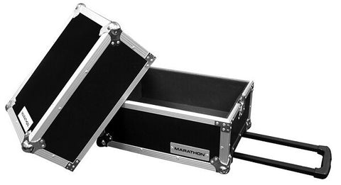 Marathon MA-LPHW Flight Road 100 Capacity Deluxe LP Case with Wheels - Audiofeen