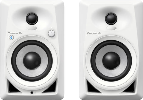 "Pioneer DM-40BT-W 4"" BLUETOOTH DESKTOP MONITOR SPEAKERS (PAIR) - Audiofeen"