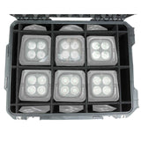 (12) American DJ Element HEXIP IP54-Outdoor Rated Battery Powered Wireless LED Pars Package - Audiofeen