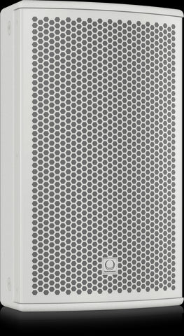 Turbosound NuQ82-AN-WH Powered 2500 Watt 2 Way 8'' Loudspeaker with KLARK TEKNIK DSP Technology and ULTRANET Networking (White) 100°x60° dispersion - Audiofeen