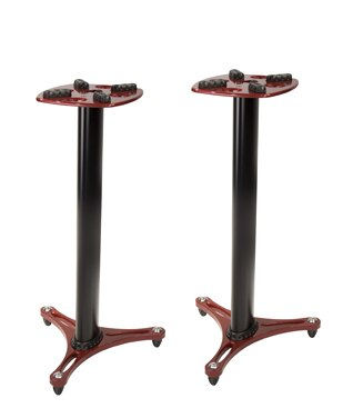 "Ultimate Support MS-90 Second-Generation Column 36 Studio Monitor Stands, Pair, Red"" - Audiofeen"
