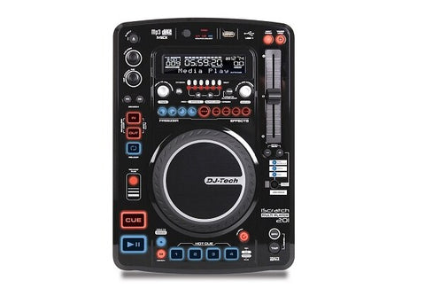DJ Tech iScratch 201 Professional Media Player with Midi Control and DSP - Audiofeen