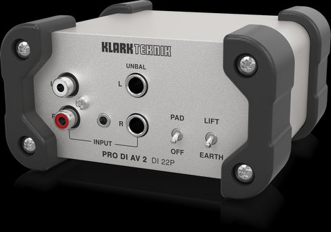Klark Teknik DI 22P - Passive Stereo DI Box with MIDAS Transformers and Extended Dynamic Range - Audiofeen
