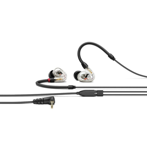 SENNHEISER IE 40 Pro Clear - In-ear monitoring headphones featuring SYS 10 dynamic transducer and 1.3m cable. Includes (1) IE 40 PRO clear with 3.5mm jack, (1) soft pouch, (1) set of silicone ear adapters (S,M,L), (1) set of foam ear adapters (S,M,L) - Audiofeen