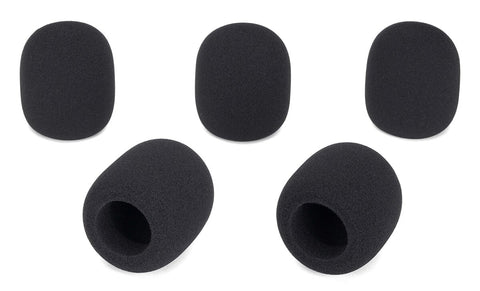 Samson WS1 - Microphone Windscreen 5-Pack (BLACK) - Audiofeen