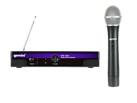 Gemini VHF-1001M Wireless Microphone System - Audiofeen