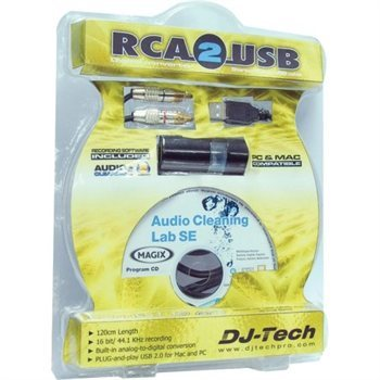DJ Tech RCA-2-USB Recording System - Audiofeen