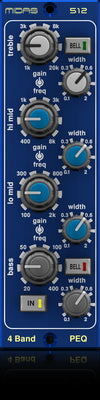 Midas PARAMETRIC EQUALISER 512 - Midas 500 Series 4 Band Fully Parametric Equaliser Based on MIDAS HERITAGE 3000 - Audiofeen
