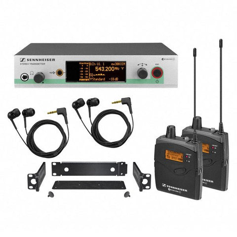 Sennheiser EW300-2IEMG3 Wireless Monitor System with Rack Mountable Stereo Transmitter - Audiofeen
