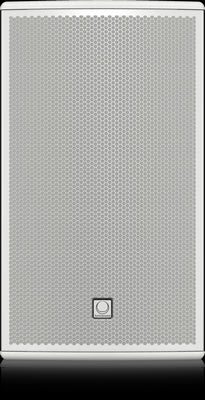 Turbosound NuQ122-AN-WH Powered 2500 Watt 2 Way 12'' Loudspeaker with KLARK TEKNIK DSP Technology and ULTRANET Networking (White) 80°x50° dispersion - Audiofeen