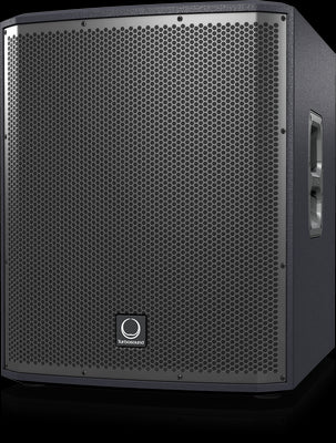 Turbosound iP15B 1,000 Watt Powered 15'' Subwoofer with Dual Amplifiers for Satellite Speakers, KLARK TEKNIK Spatial Sound Technology, Digital Mixer, Remote Control via iPhone-iPad and Bluetooth Audio Streaming - Audiofeen