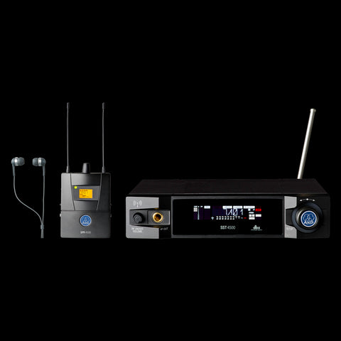 AKG 3097H00310 - IVM4500 Set BD8-100mW In Ear Monitoring System with reference audio quality, new radio design with narrow filter, radio signal attentuator and Cue-mode. Includes 1x SST4500 Stationary Transmitter, SPR4500 Diversity Bodypack Receiver, - Audiofeen