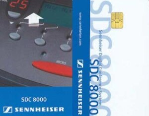 Sennheiser SDC8000Card Identification Cards for SDC8200DV-SDC8200CV - Audiofeen
