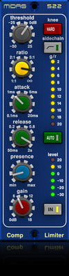 Midas COMPRESSOR LIMITER 522 - Midas 500 Series Compressor-Limiter with Dynamic Presence Control - Audiofeen