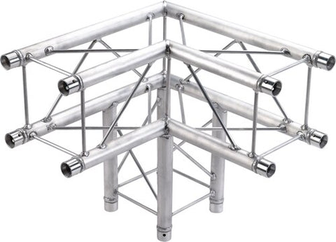 Global Truss SQ-F24-C30 1.64ft. (0.5m) 3-Way 90 Degree Corner - Audiofeen