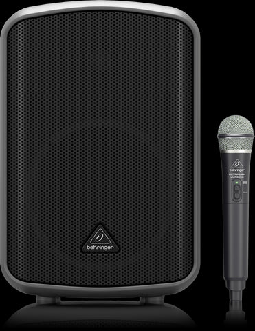 Behringer MPA200BT - 200-Watt Powered Speaker with Wireless Mic - Audiofeen