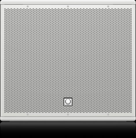 Turbosound NuQ115B-WH 15'' Front Loaded Subwoofer for Portable PA Applications (White) - Audiofeen