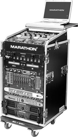 Marathon MA-11M16UWLT Amp Rack Combo with Laptop Stand and Wheels - Audiofeen