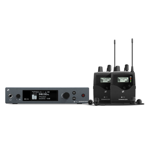 SENNHEISER ew IEM G4-A - Wireless stereo monitoring set. Includes (1) SR IEM G4 stereo transmitter, (1) EK IEM G4 stereo bodypack receiver, (1) pair of IE4 earbuds and (1) GA3 rackmount kit, frequency range:A (516 - 558 MHz) - Audiofeen
