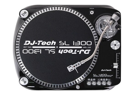 DJ-Tech SL-1300 MK6 Quartz Drive DJ Turntable - Black - Audiofeen