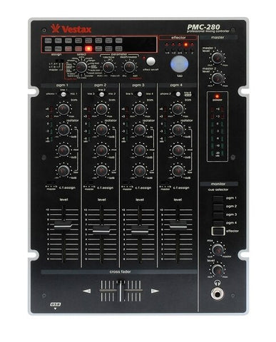 Vestax PMC-280 Four-Channel DJ Mixer with DSP Multi-Effects Processor - Audiofeen