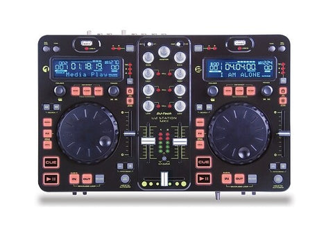 DJ Tech U2 Station MKII Twin MP3 Player and Twin USB Dock and 2CH DJ Mixer - Audiofeen