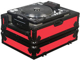 Odyssey FRCDJBK-RED Flight Ready CD Player Case (Black and Red) - Audiofeen