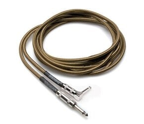Hosa GTR-518 Tweed Guitar Cable - Straight to Right-Angle - Audiofeen