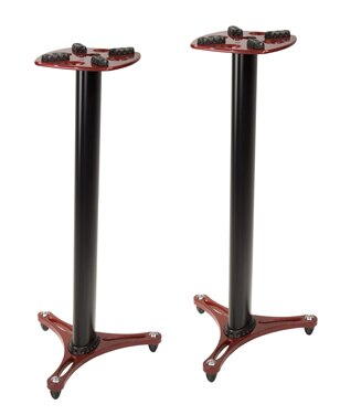 Ultimate Support MS-90-45R Studio Monitor Stands, Pair, Red - Audiofeen