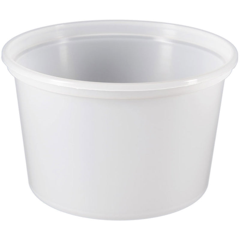 16 oz. White PP Plastic Tubs, L410