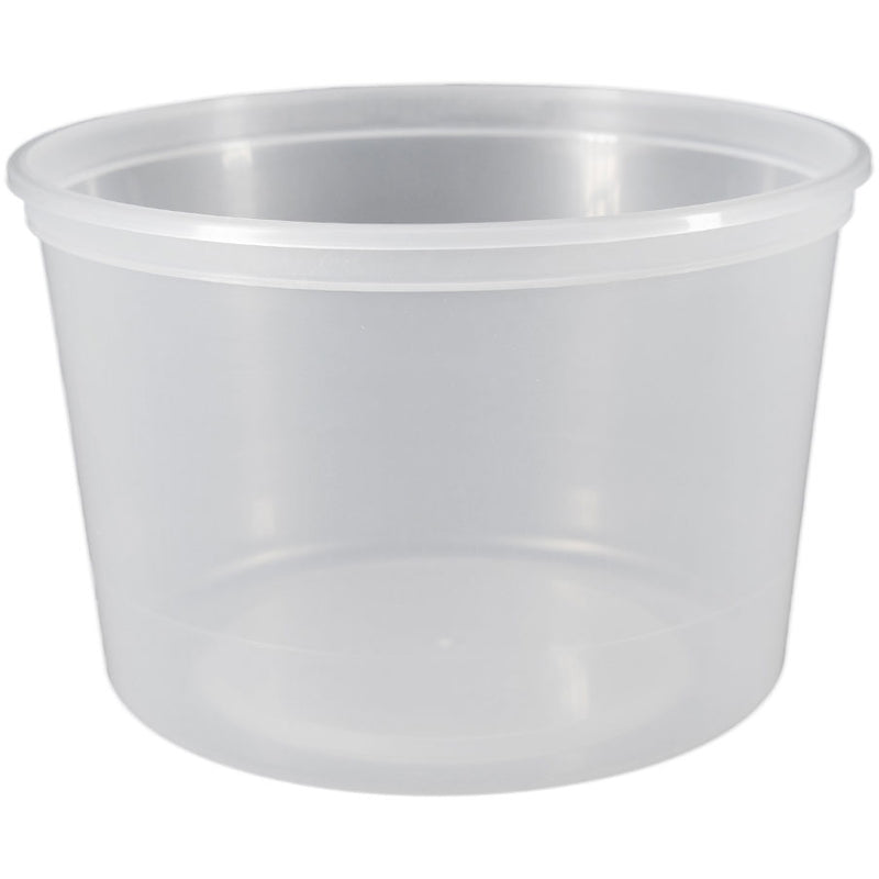 64 oz. (Half Gallon) Natural PP Plastic Tubs, L610