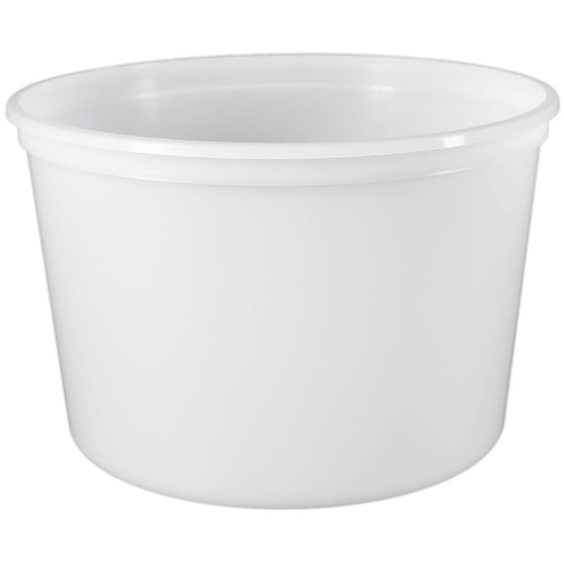 64 oz. (Half Gallon) Natural PP Plastic Freezer Tubs, L610