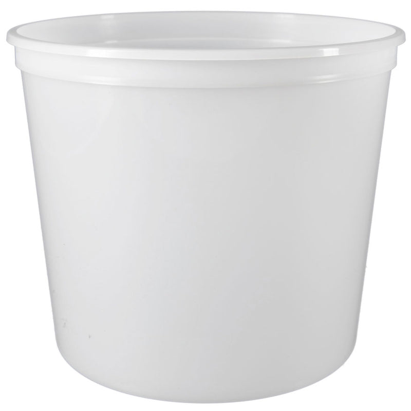 84 oz. (5 lb) Natural PP Plastic Freezer Tubs, L610