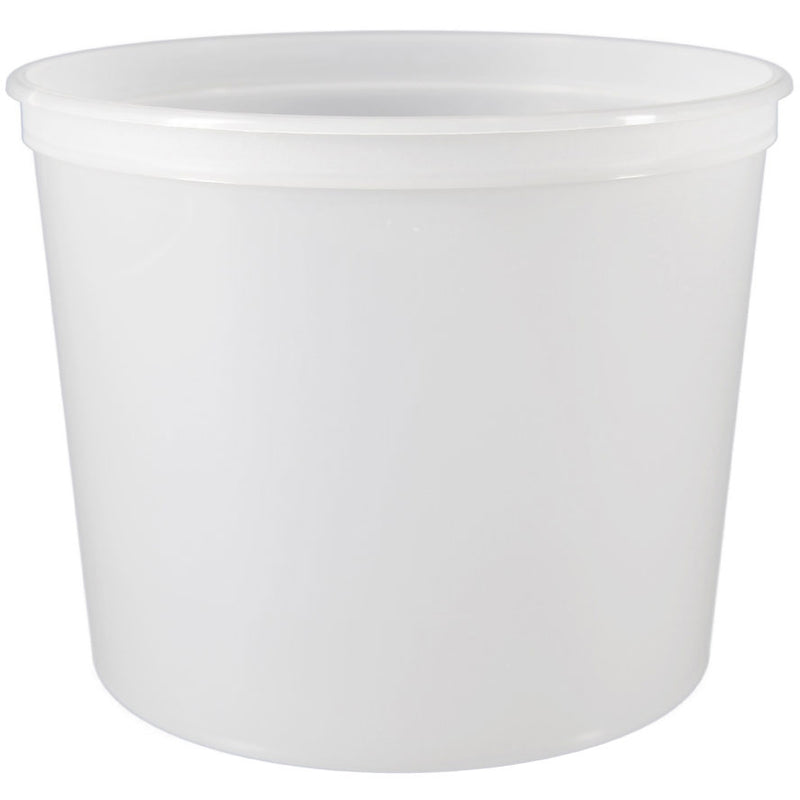 62 oz. (3 lb) Natural PP Plastic Freezer Tubs, L603