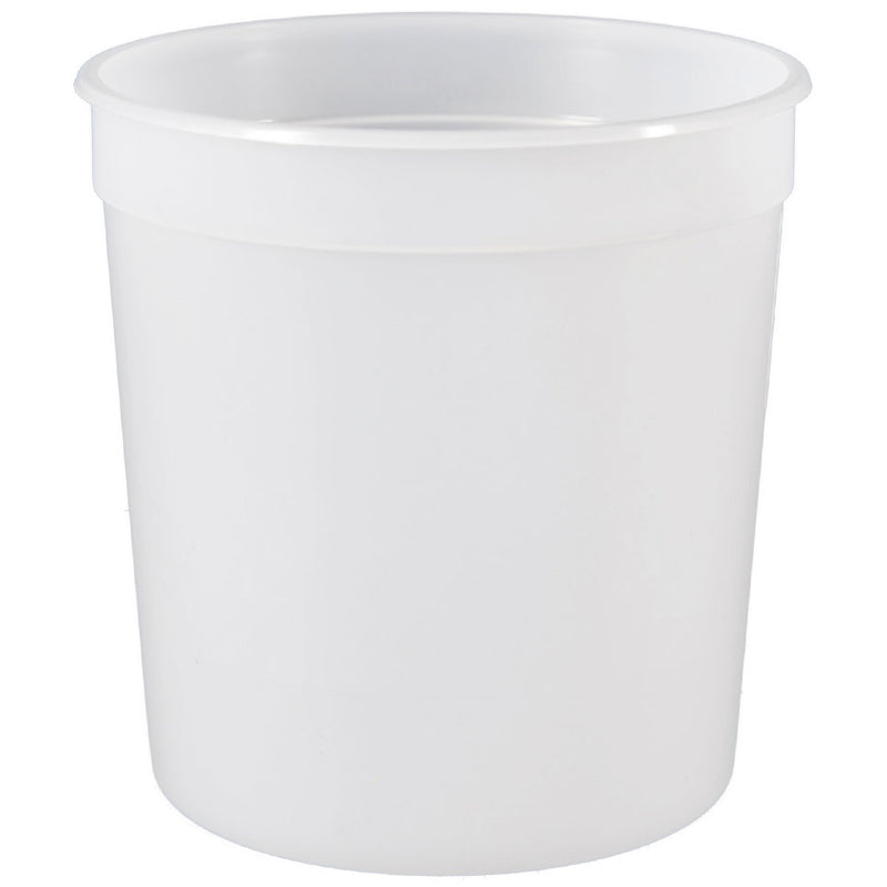 16 oz. Natural HDPE Plastic Tubs (Freezer Safe), L309
