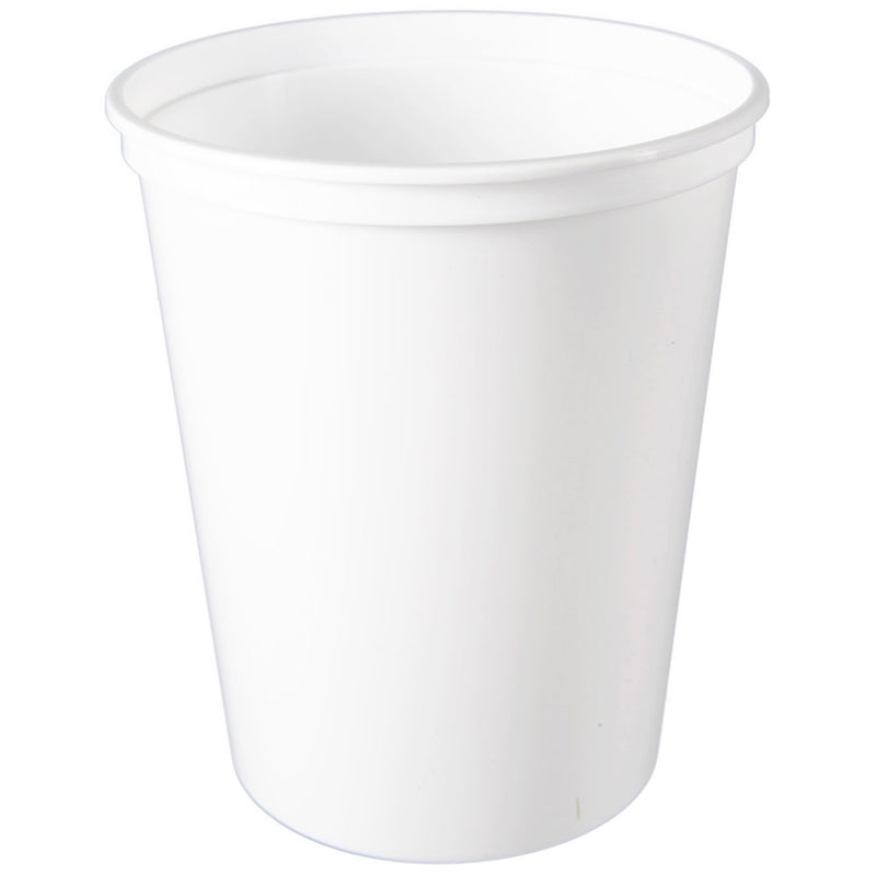 32 oz. White PP Plastic Tubs, L410