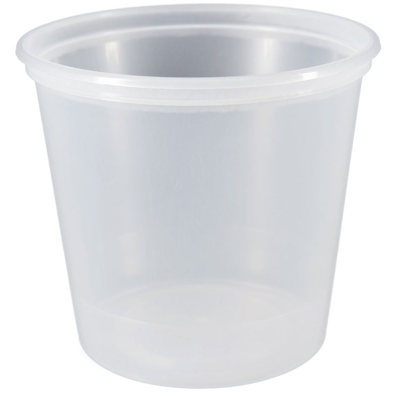 24 oz. Natural PP Plastic Tubs, L410