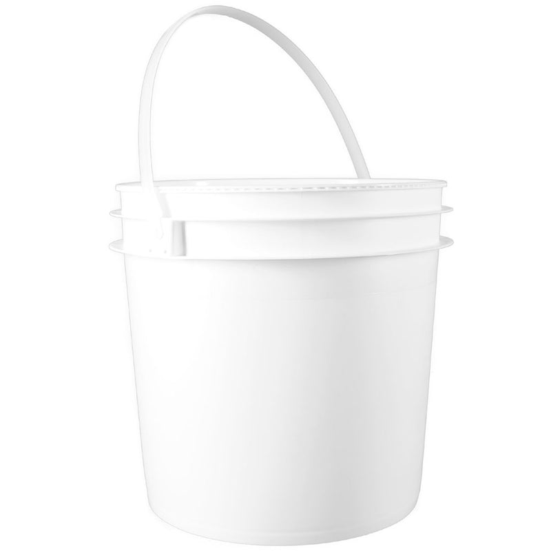 2 gal. White HDPE Plastic Industrial Pails