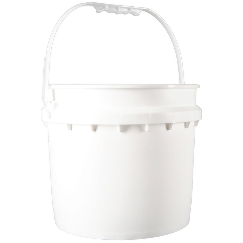 3.5 gal. White HDPE Plastic Pails
