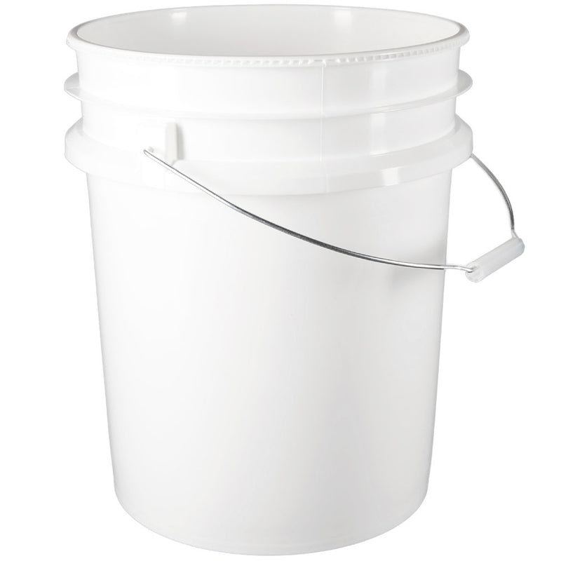 5 gal. White HDPE Plastic Pails (90-mil)