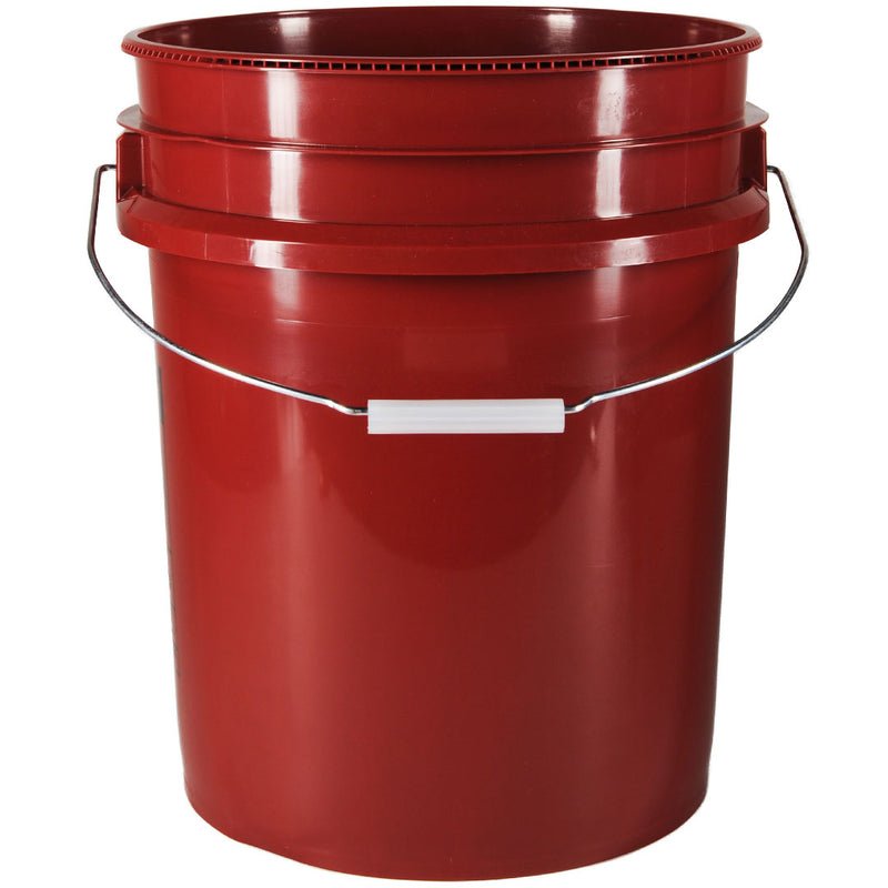5 gal. Mobile Red HDPE Plastic Pails (90-mil)