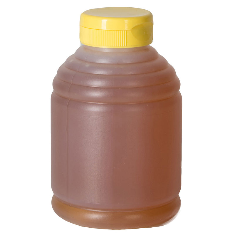12 oz. Natural HDPE Skep Plastic Honey Bottles (38-400) with optional cap